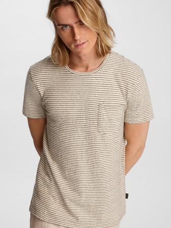 Emmett Striped Pocket Tee