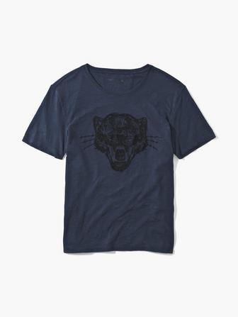 PANTHER CHAIN STITCH TEE