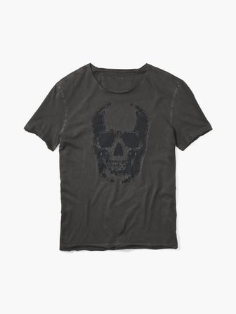 SKULL APPLIQUE TEE