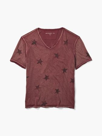 Peruvian Cotton Faded Star V-Neck