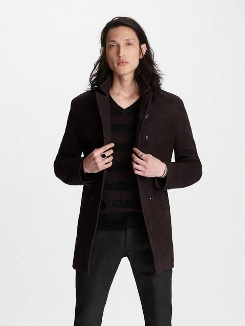 SUEDE DOUBLE-BREASTED COAT