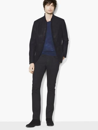SUEDE SHAWL-COLLAR JACKET