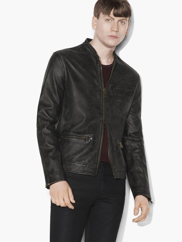 Leather jacket under 100 - Vintage Leather Jacket