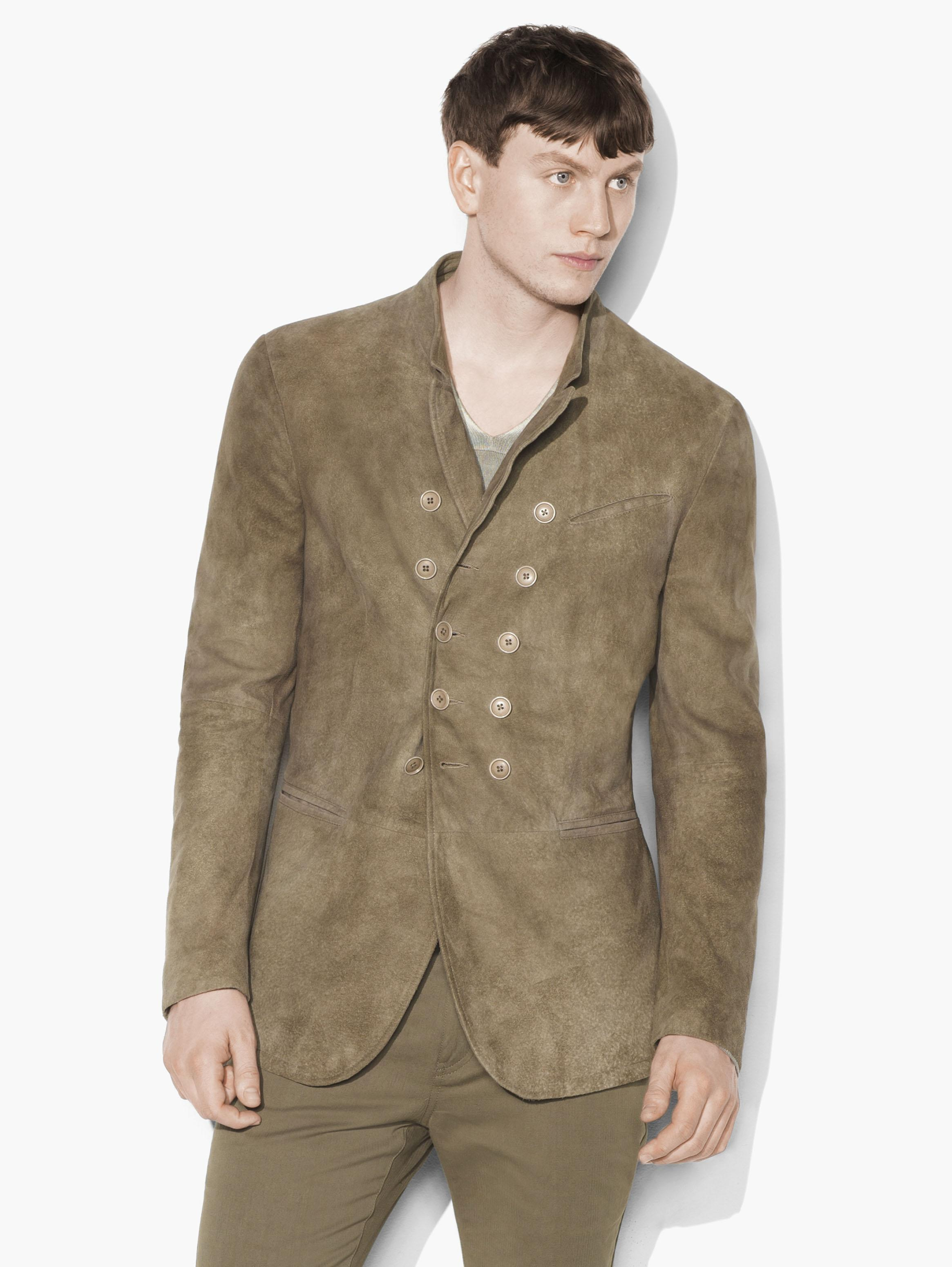 Suede Double-Breasted Jacket