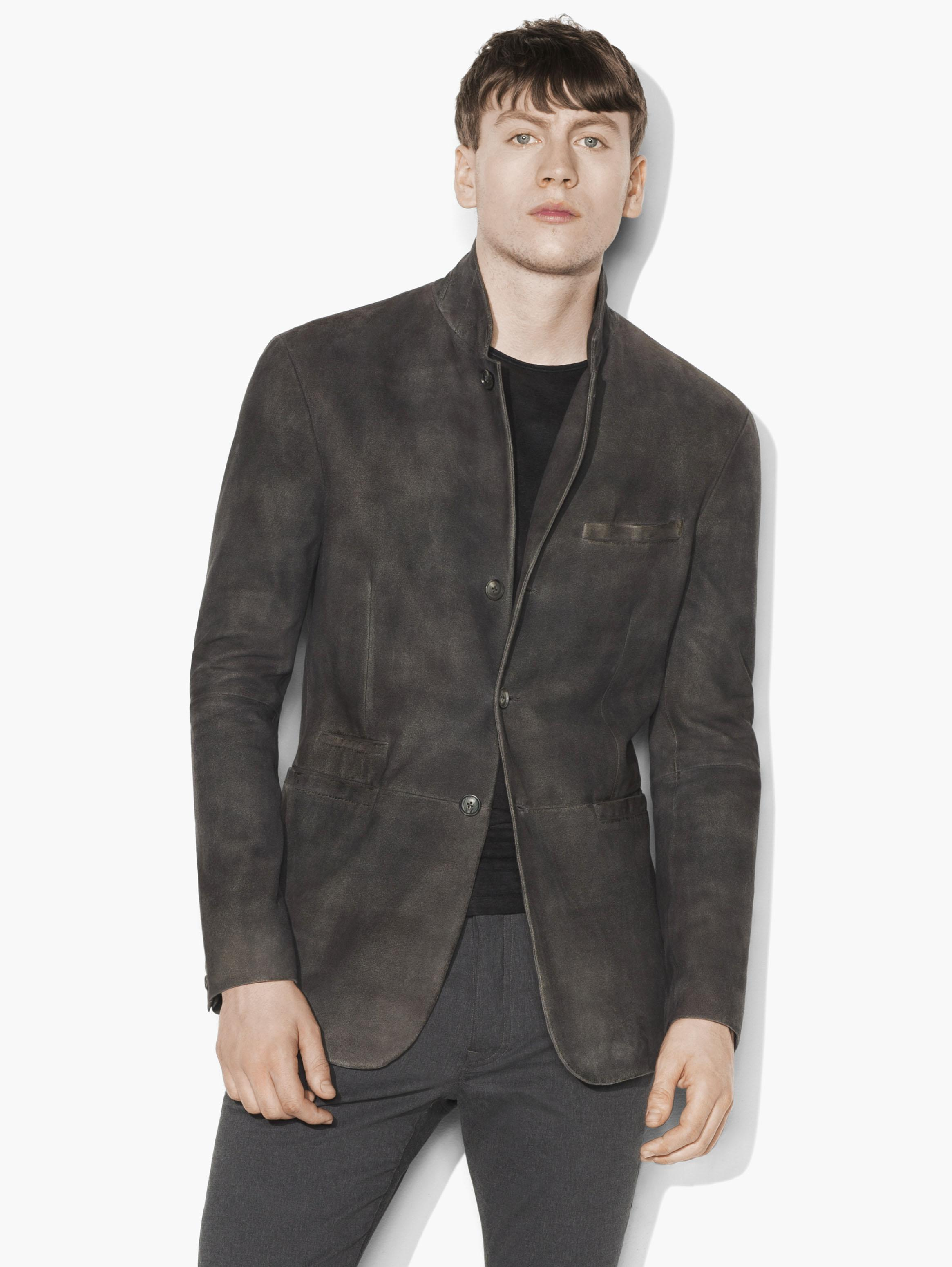 Burnished Suede Blazer