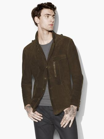 SUEDE MODERN MILITARY JACKET
