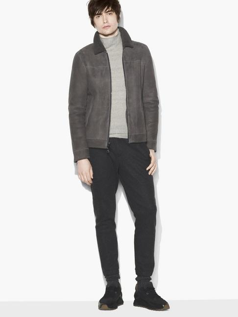 SHEARLING ZIP FRONT JACKET