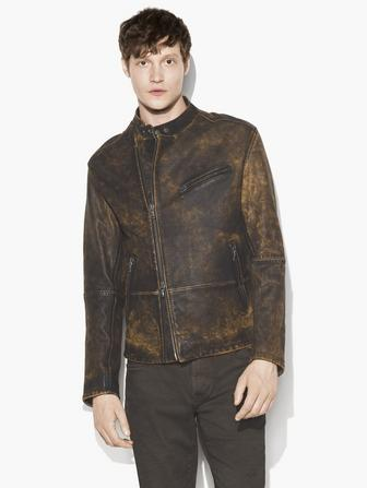 ASYMMETRIC RUGGED LEATHER JACKET
