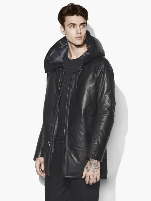 DOWNFILL LEATHER PARKA