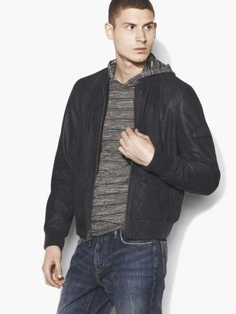 Soft Leather Flight Bomber Jacket