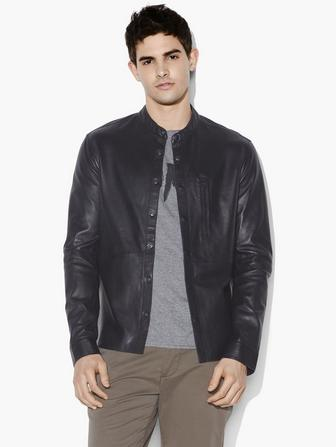 WYATT LEATHER SHIRT JACKET