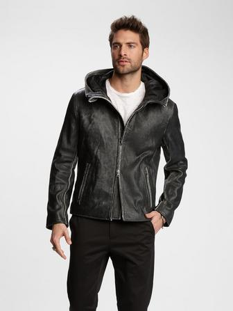 63ff3e0f08 LIMITED EDITION LEATHER HOODED JACKET