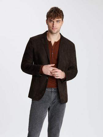 SUEDE NOTCH LAPEL JACKET