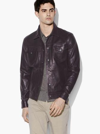 TRISTAN LEATHER TRUCKER JACKET