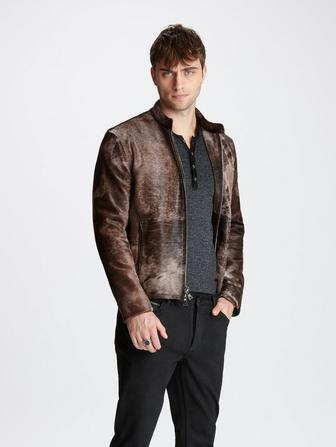 CALF HAIR MOTO JACKET