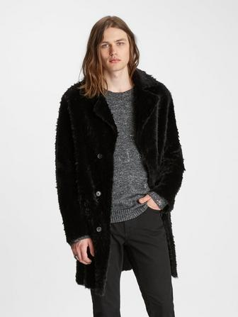 REVERSE SHEARLING COAT