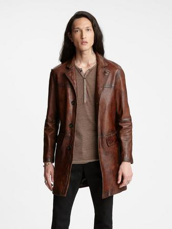 Led Zeppelin Leather Coat