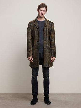 SHEEPSKIN 3/4 LENGTH COAT