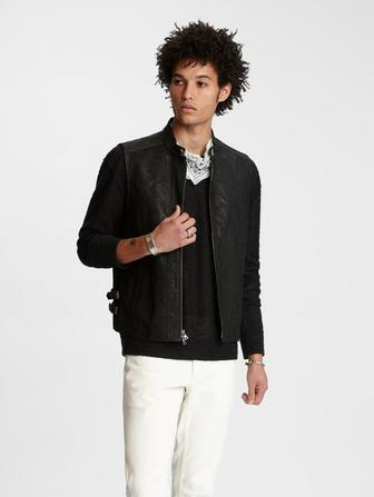 SHEEP SKIN SLIM ZIP CLOSURE LEATHER VEST