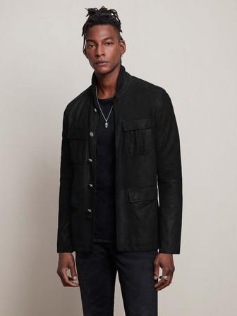 BUTTON FRONT OFFICER JACKET