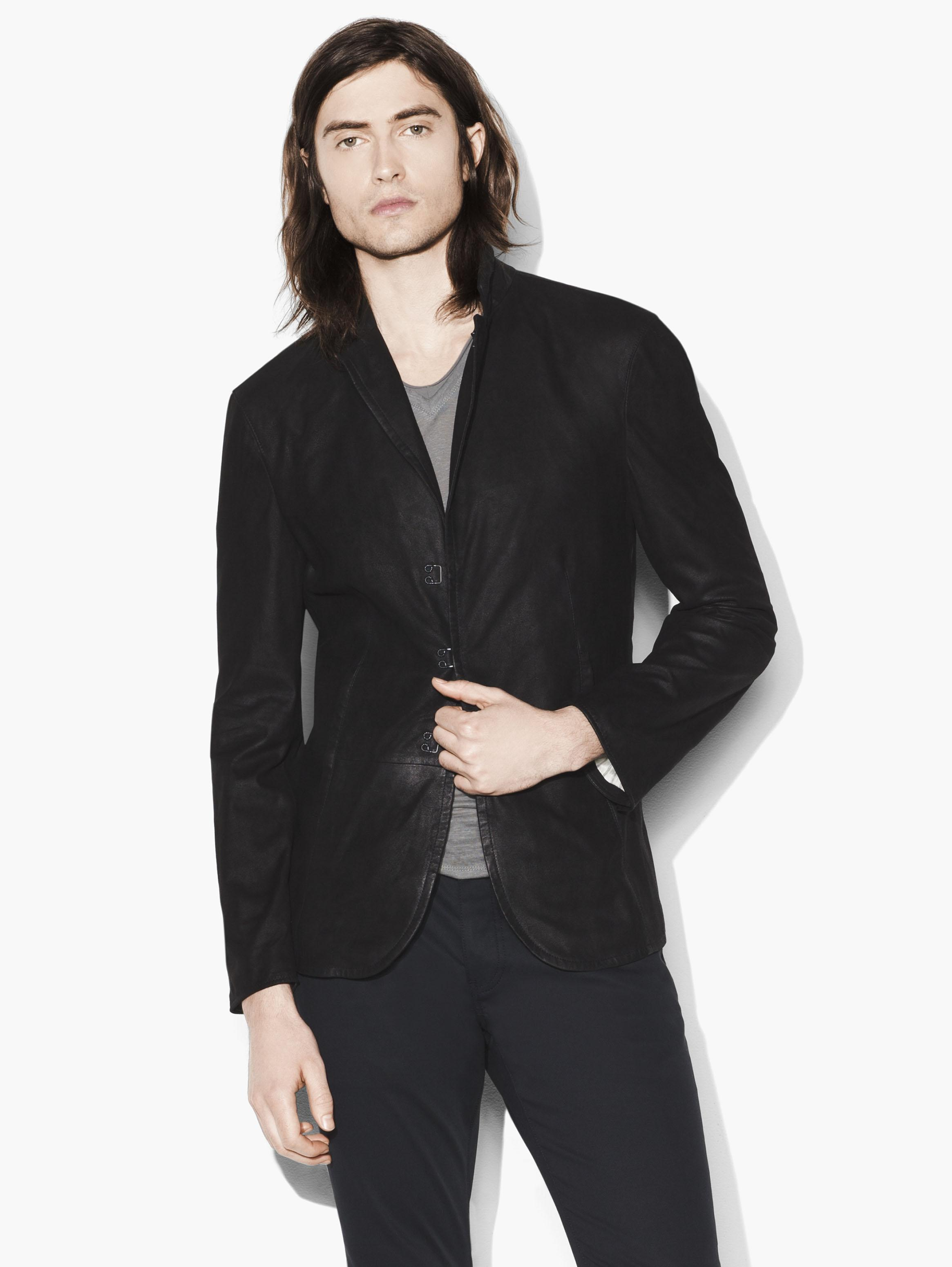 Suede Hook And Bar Jacket