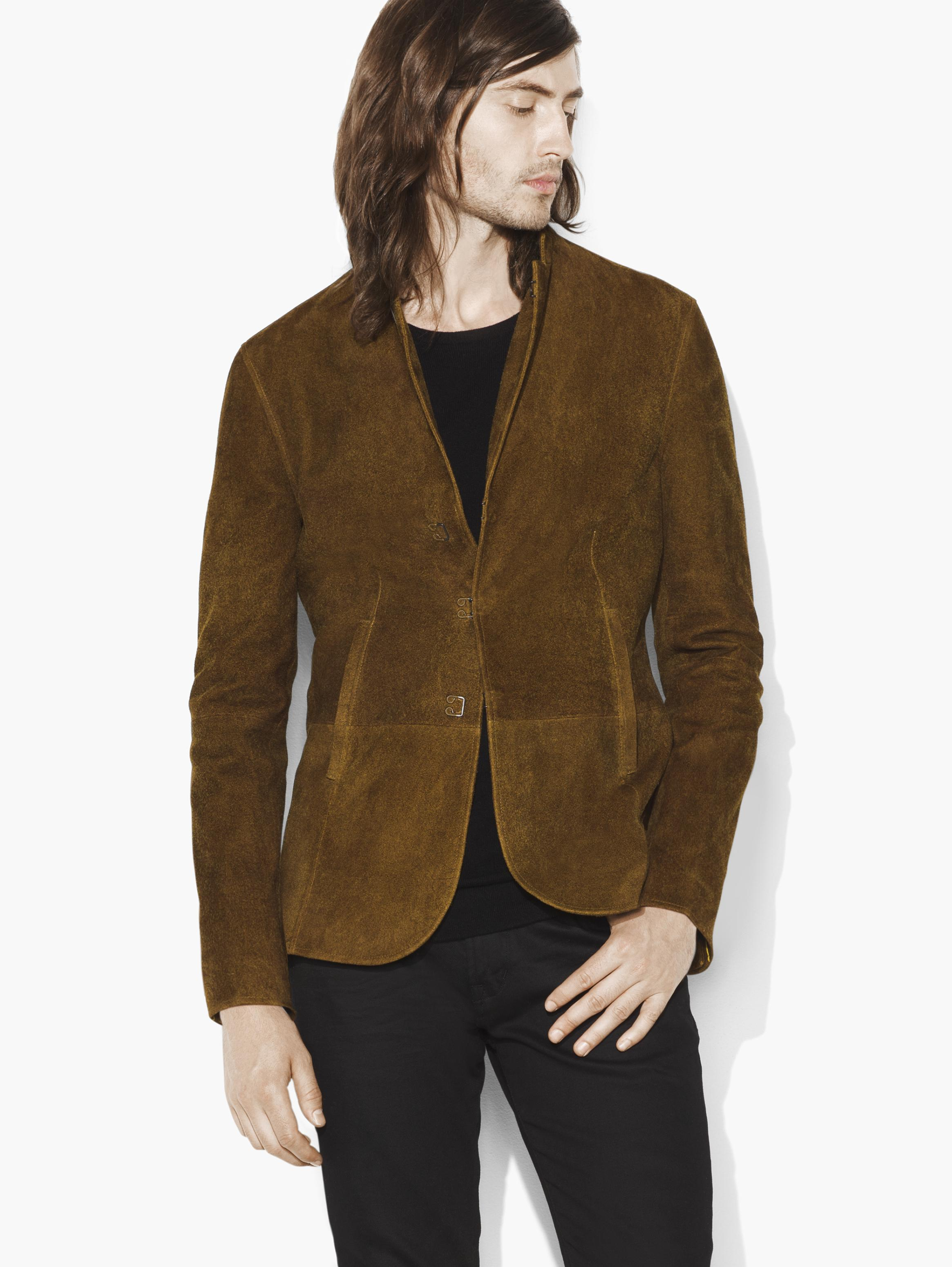 Suede Hook & Bar Jacket
