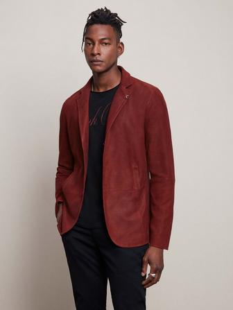 GOAT SUEDE SLIM FIT SUEDE JACKET