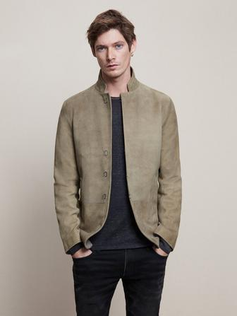SLIM FIT SHEEP SUEDE JACK