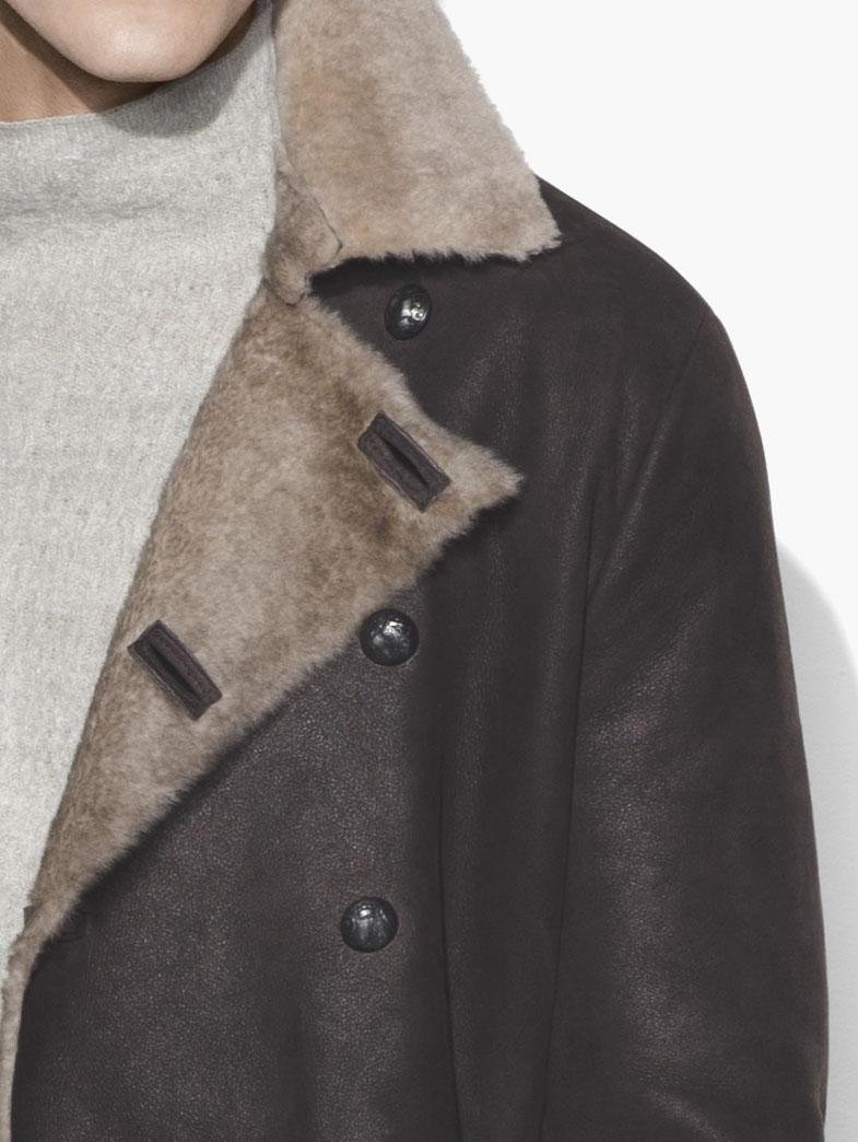 Double Breasted Shearling Coat by John Varvatos