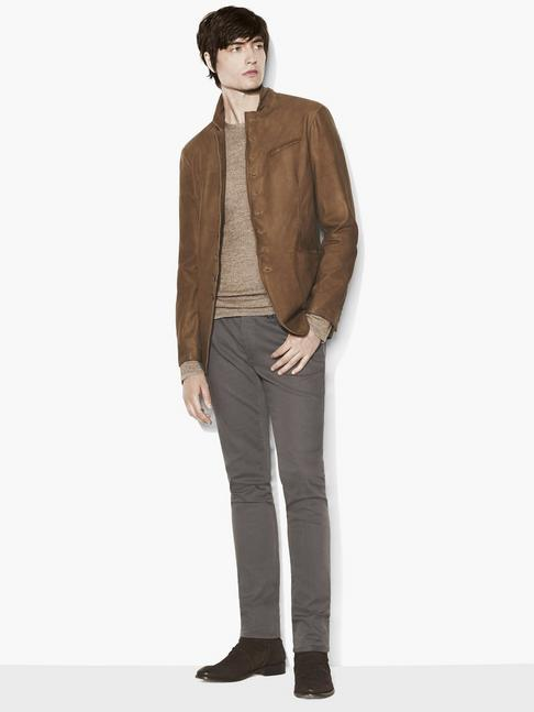 Suede Multi-Button Jacket