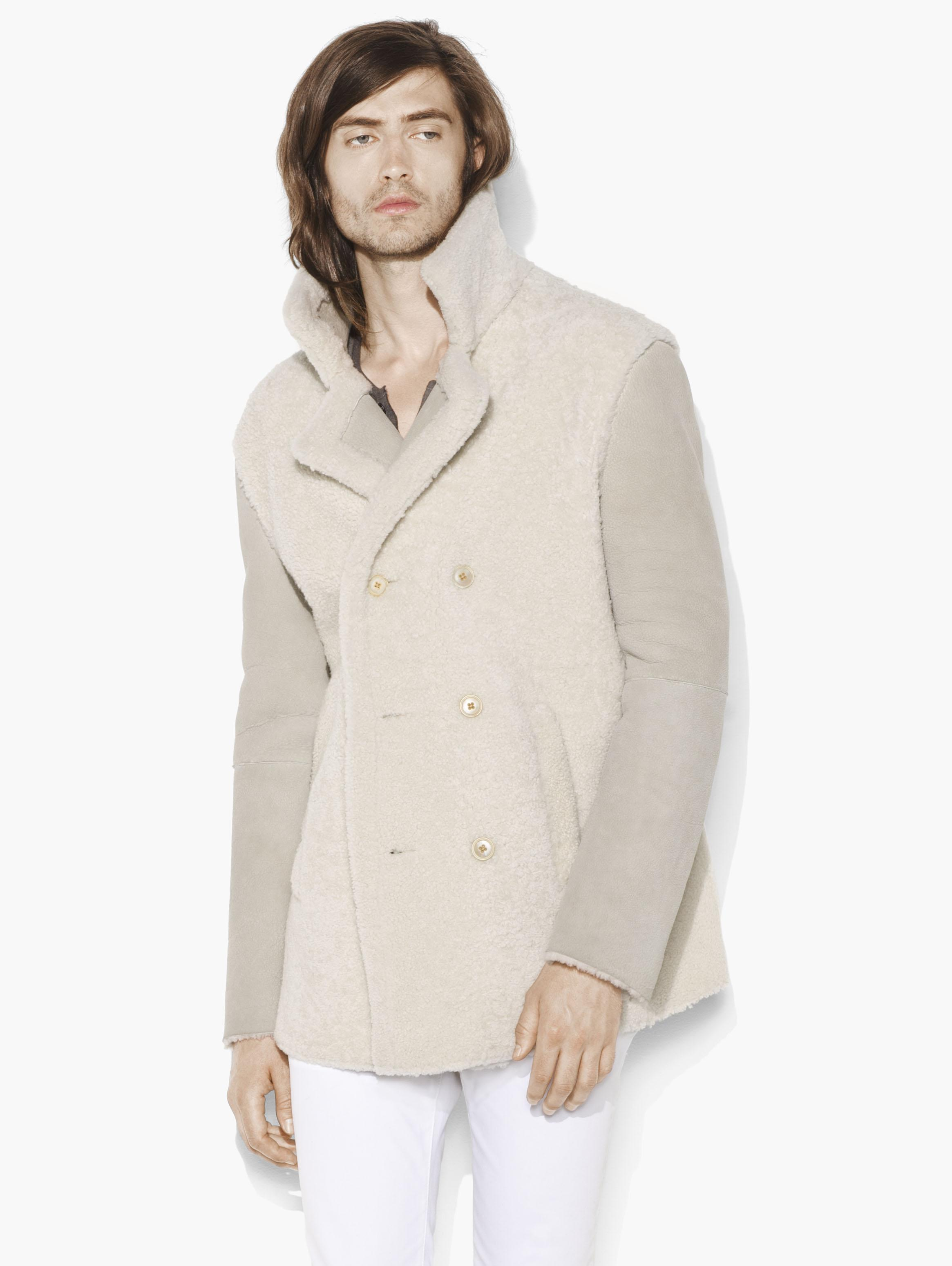 Shearling Double Breasted Coat