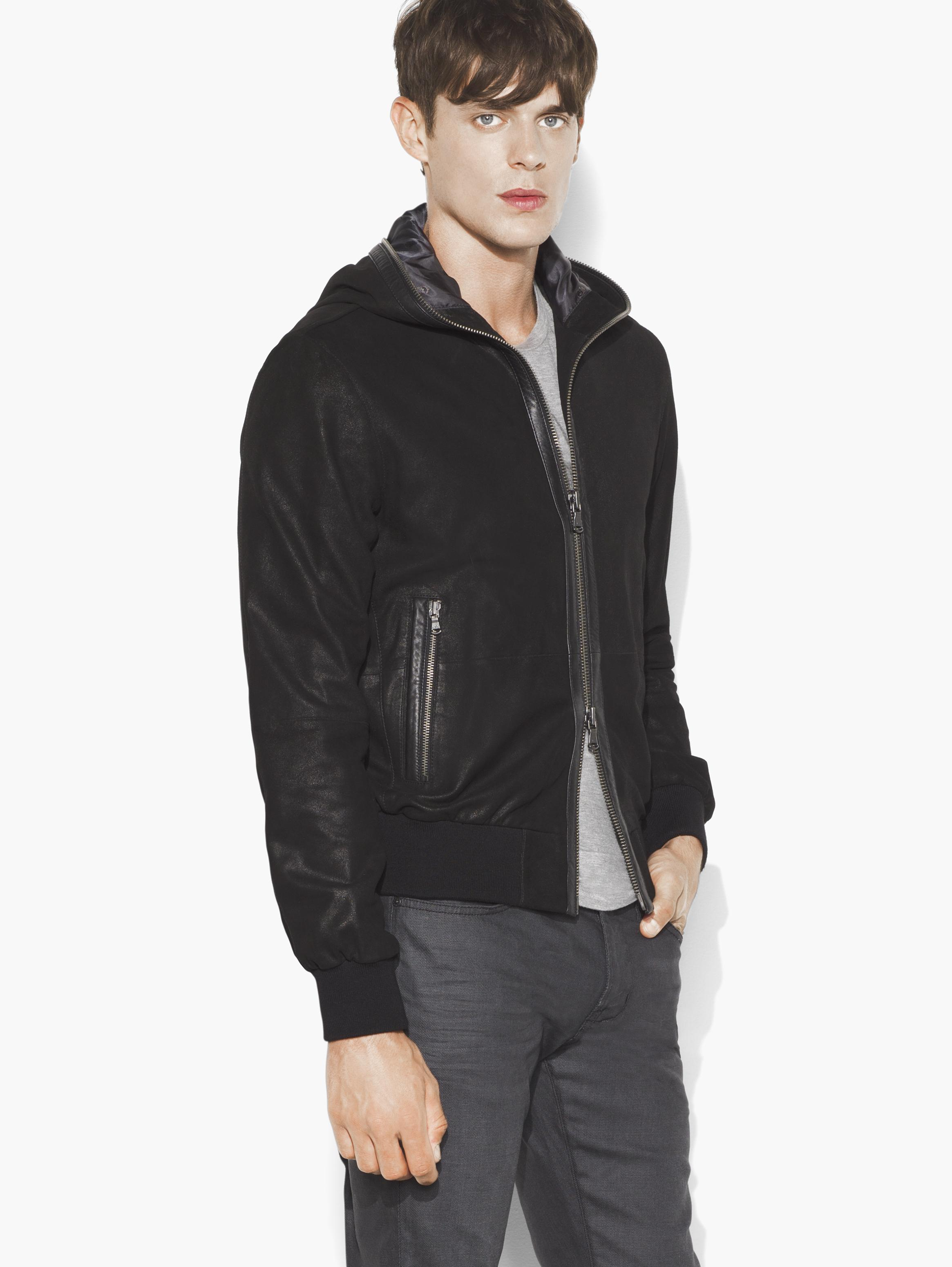Suede Hooded Bomber