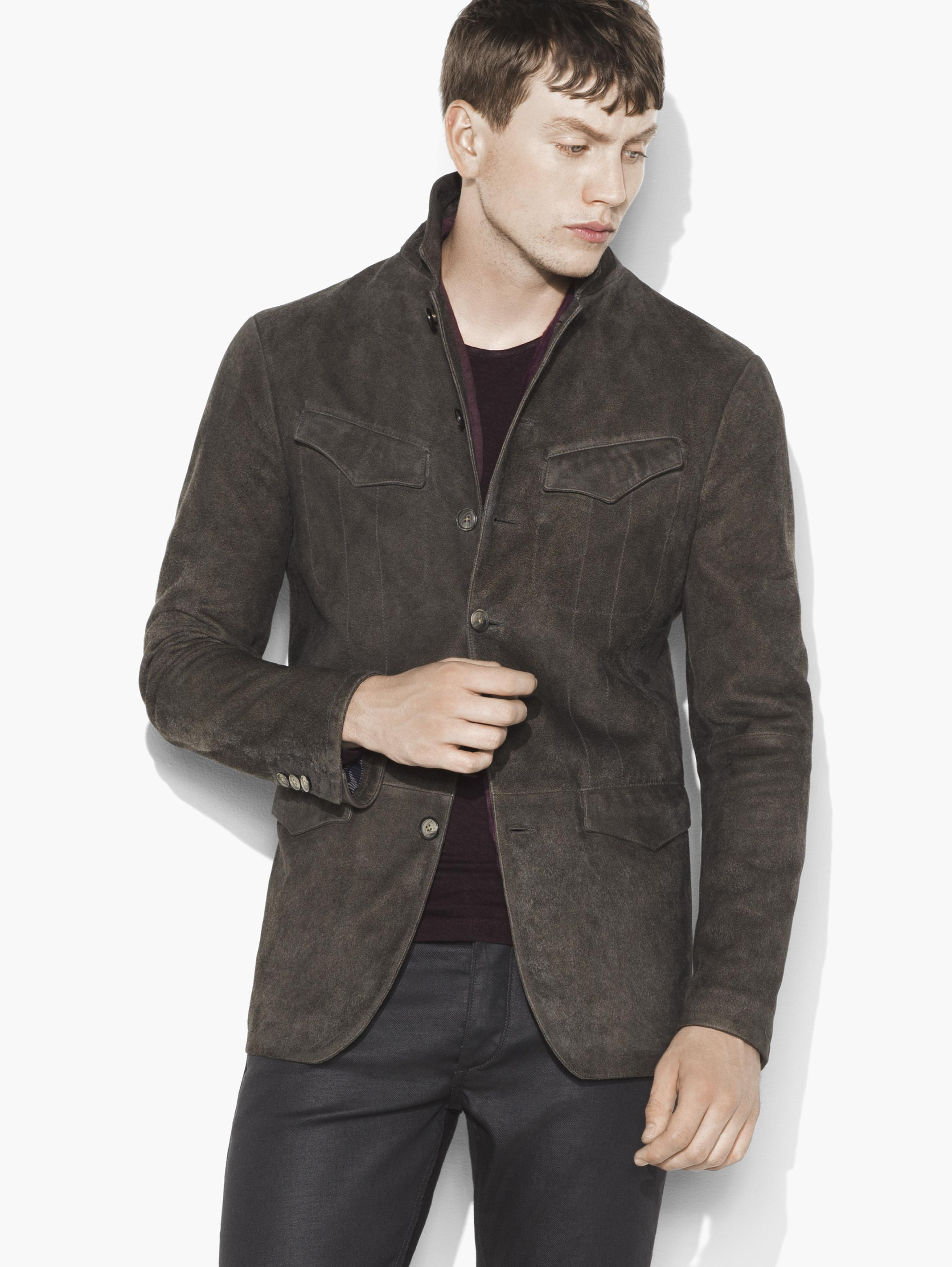 Suede Military Jacket