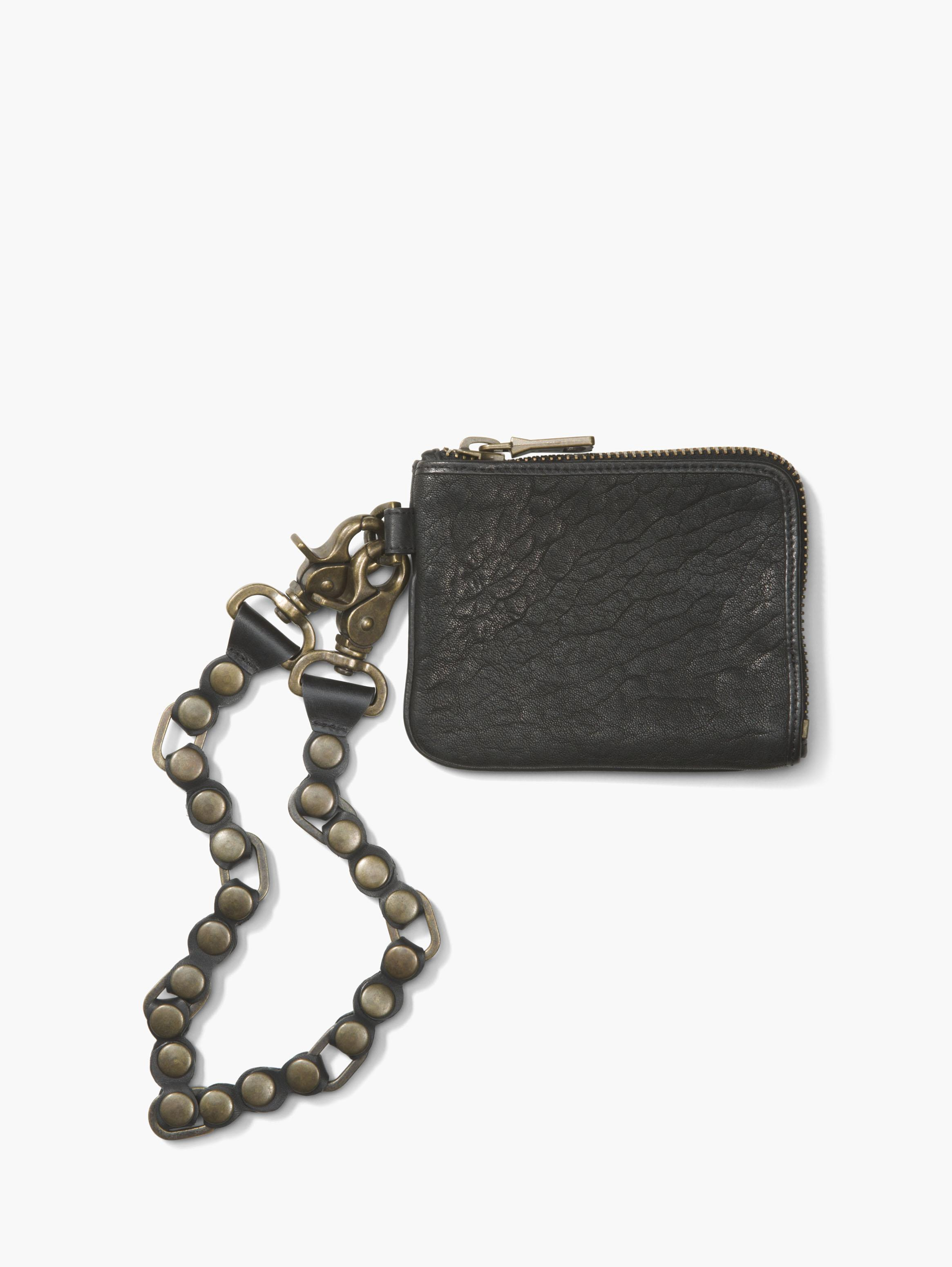Zip Around Wallet With Chain