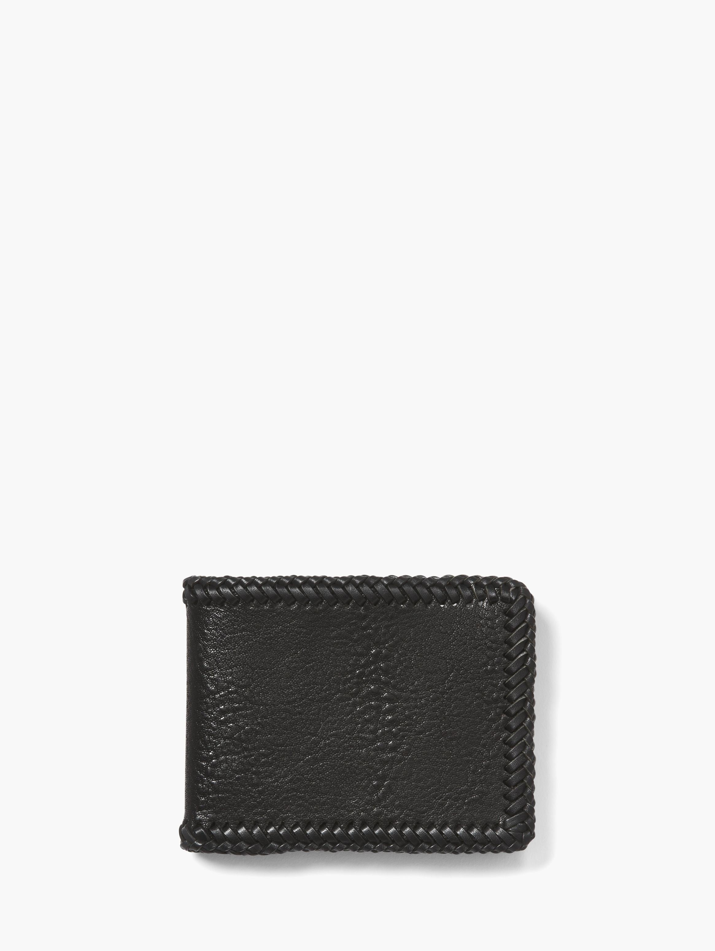 Braided Slim Fold Wallet