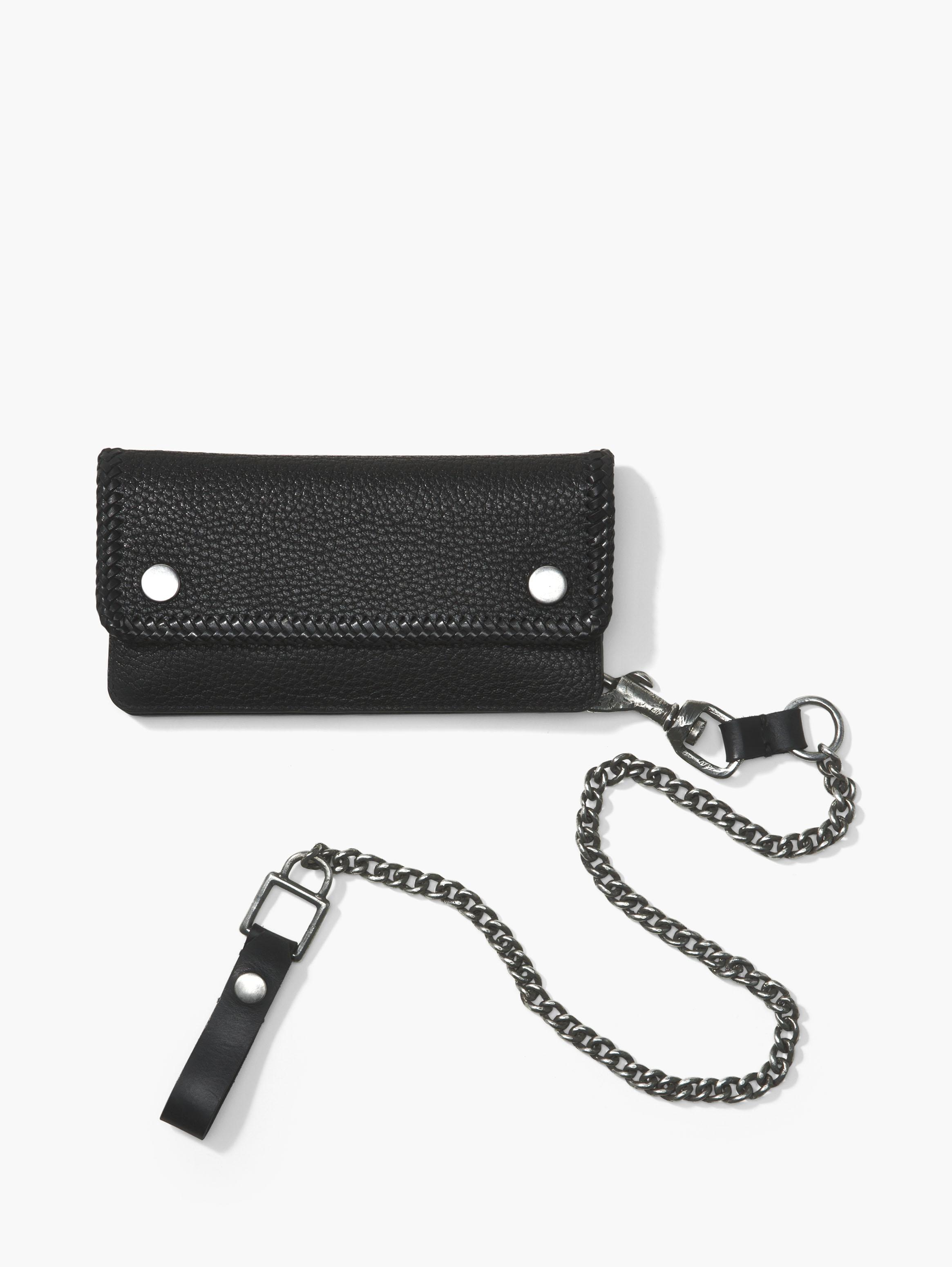 Pebbled Leather Biker Wallet