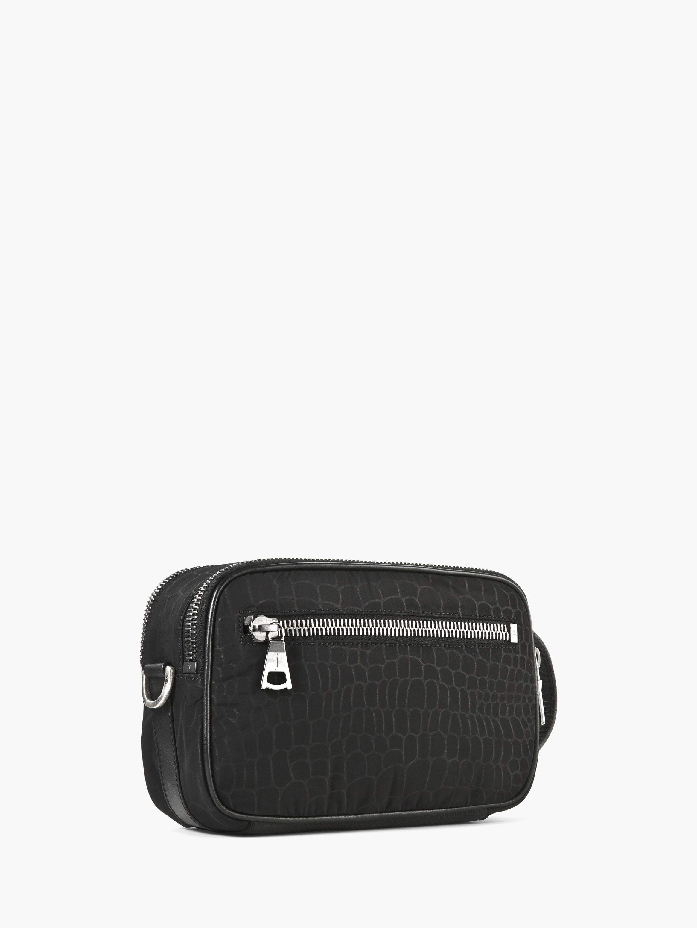 Croc-Embossed Nylon Dopp Kit