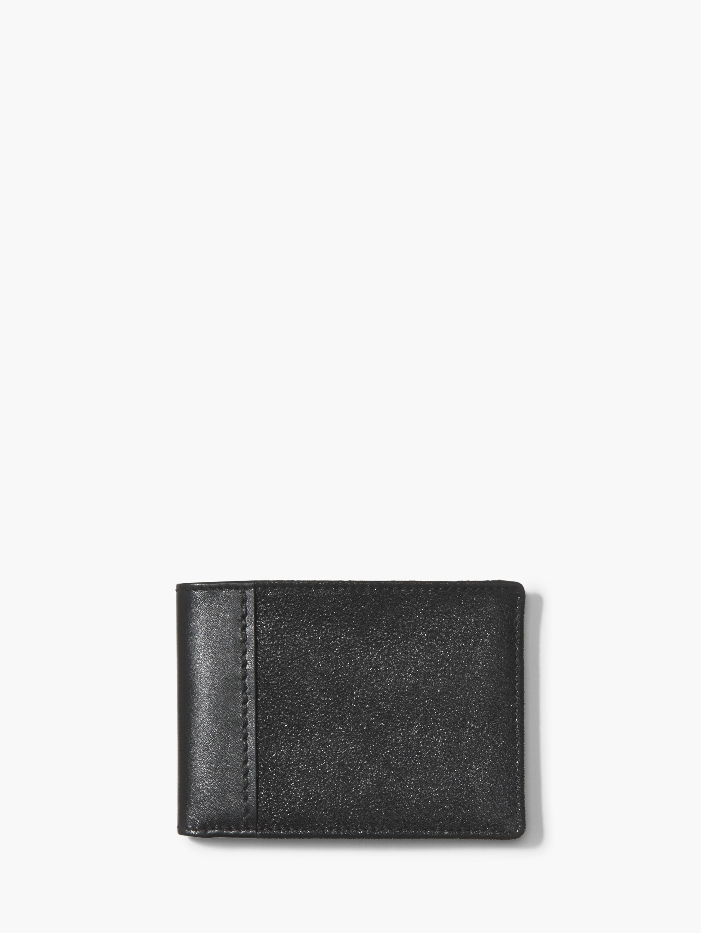 Metallic Leather Bifold Wallet