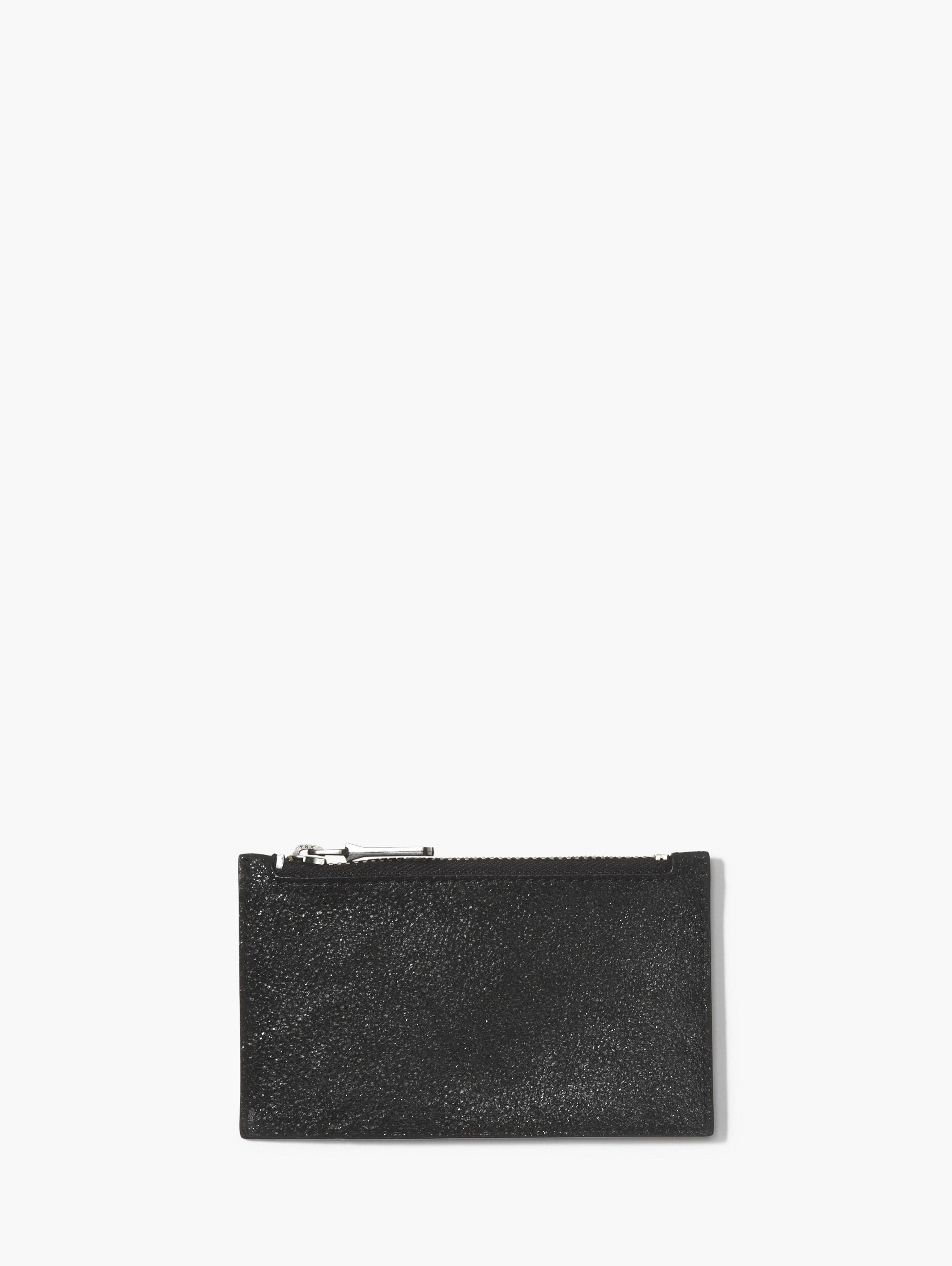 Metallic Leather Zipped Cardholder