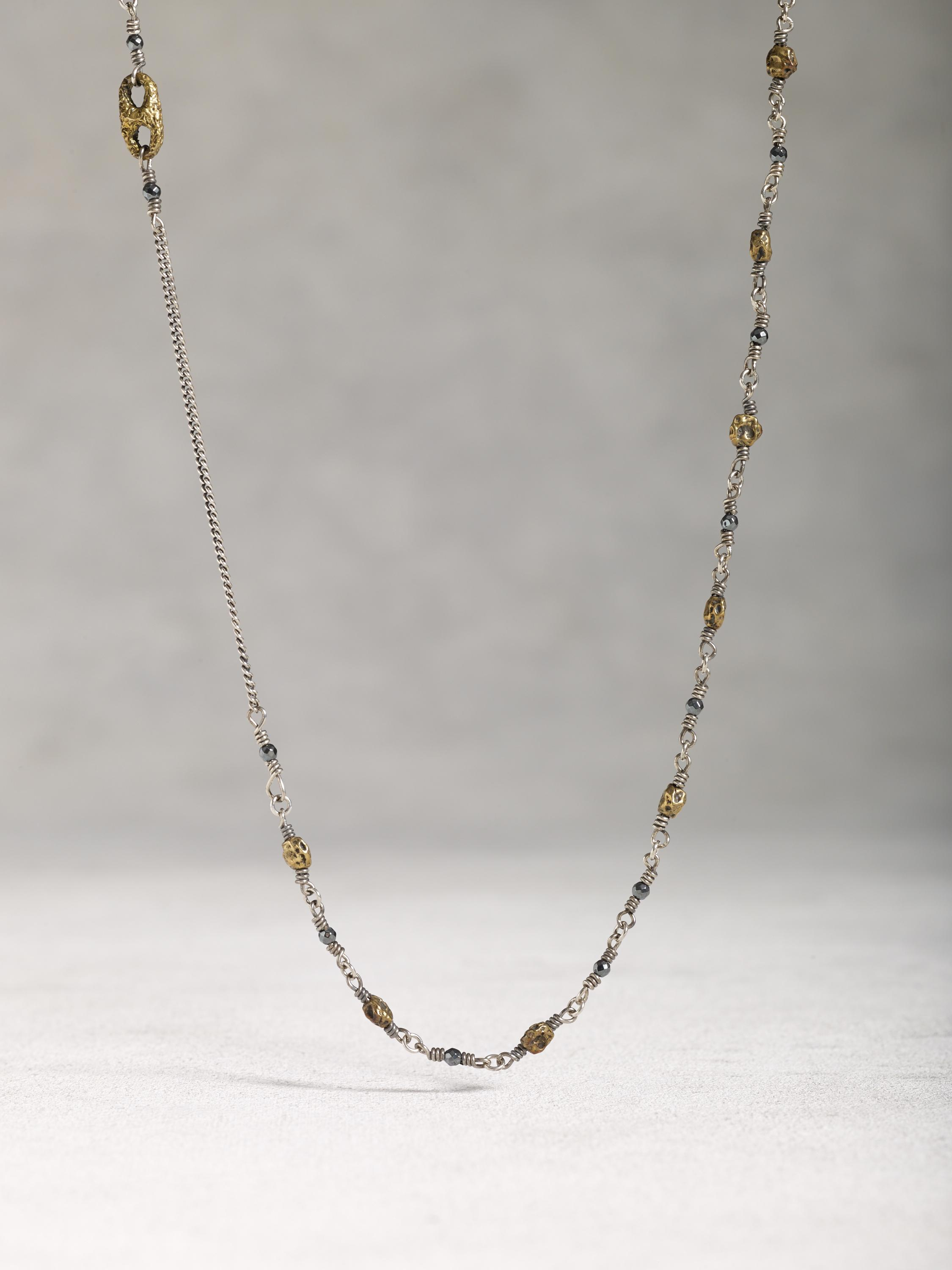 Mixed Sterling Silver Chain Necklace