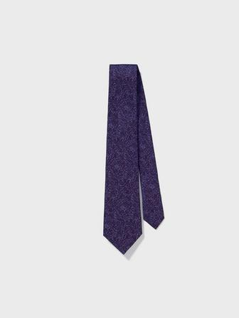 Wide Silk Graphic Tie