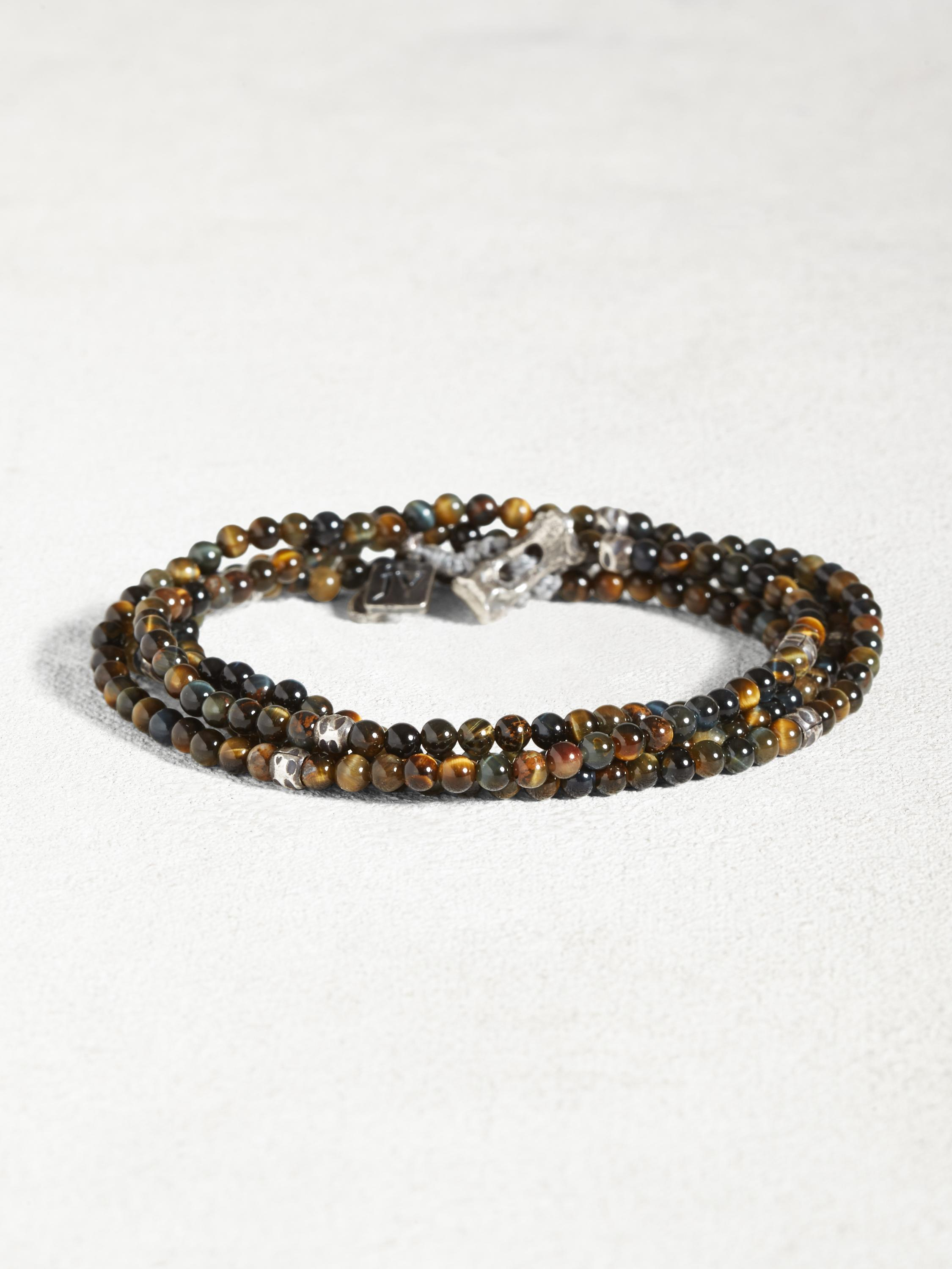 Tiger's Eye & Sterling Multi-Wrap Bracelet
