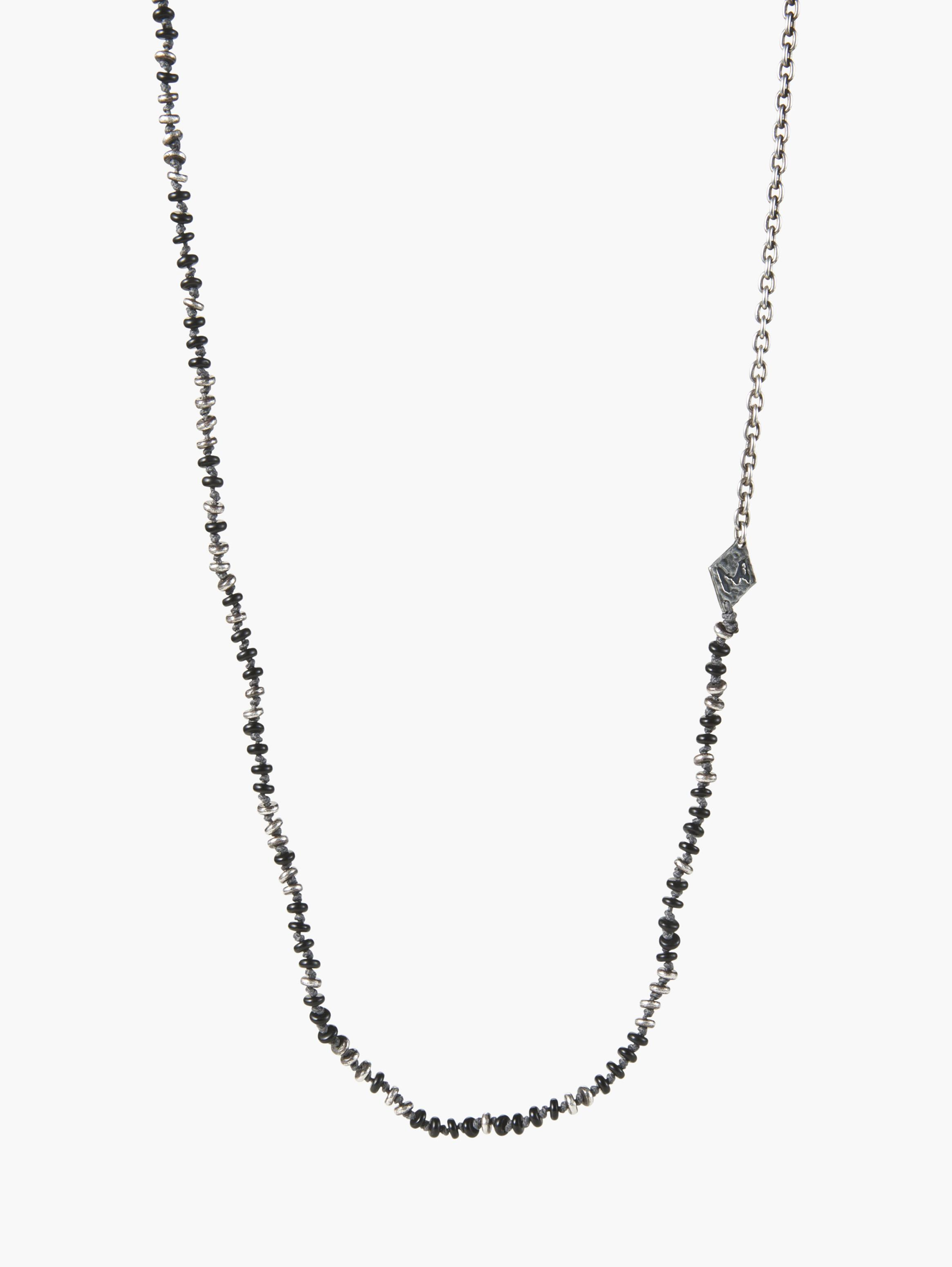 Knotted Gemstone Silver Link Necklace