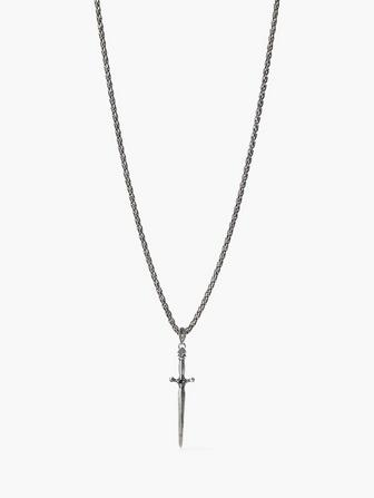 SILVER DAGGER NECKLACE