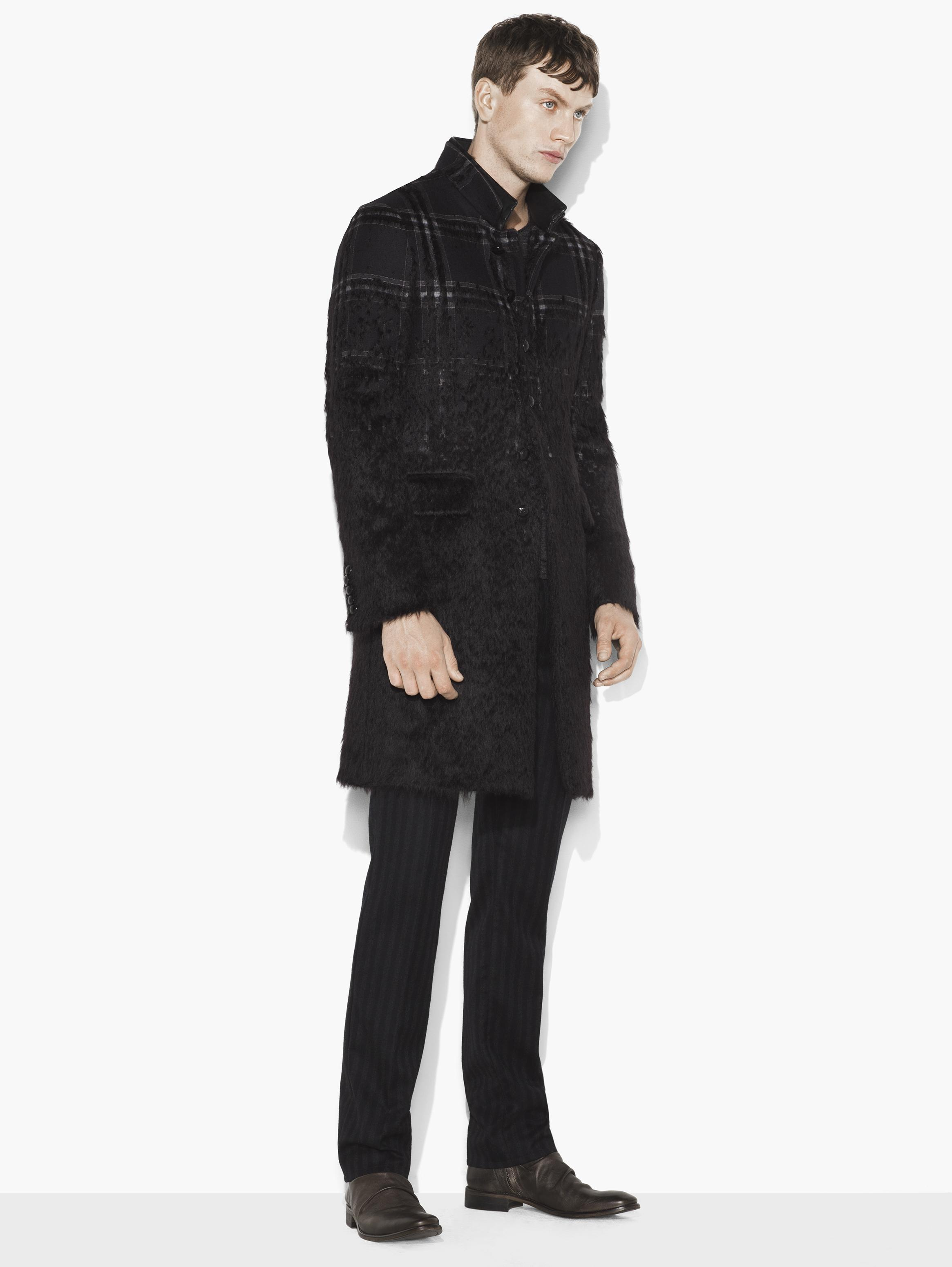 Wool & Mohair Plaid Coat