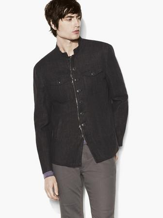 3eb0de0dc19 Linen Military Shirt Jacket