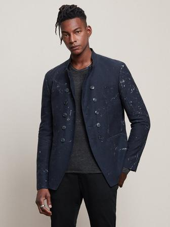 Slim Fit Paint Splatter Jacket