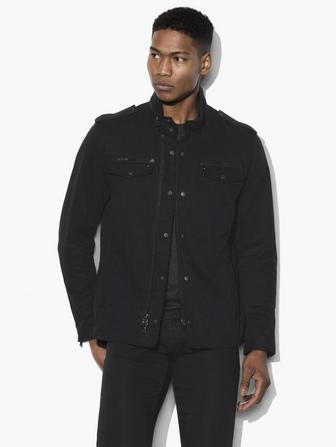 DOUBLE ZIP DETAIL SHIRT JACKET