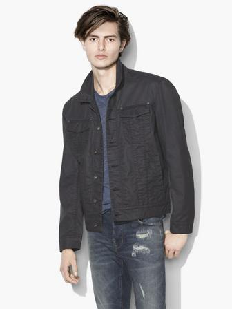 COATED TRUCKER JACKET