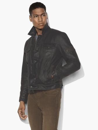SHERPA-LINED COATED TRUCKER JACKET
